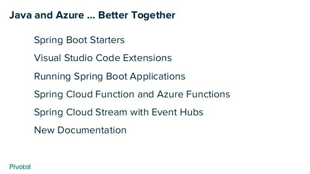 Java Is Great … on Microsoft Azure? See Newest Tools For Spring Boot …
