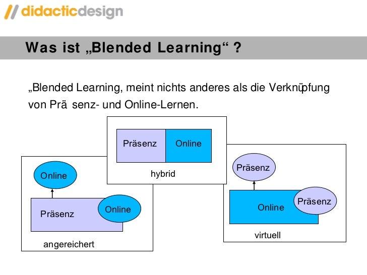 """Was ist """"Blended Learning"""" ? """" Blended Learning, meint nichts anderes als die Verknüpfung von Präsenz- und Online-Lernen. ..."""