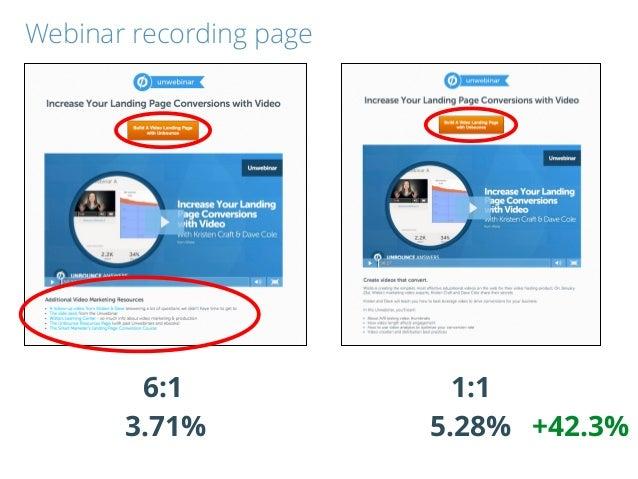 1:16:1 3.71% 5.28% +42.3% Webinar recording page