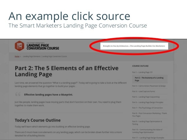 An example click source The Smart Marketers Landing Page Conversion Course