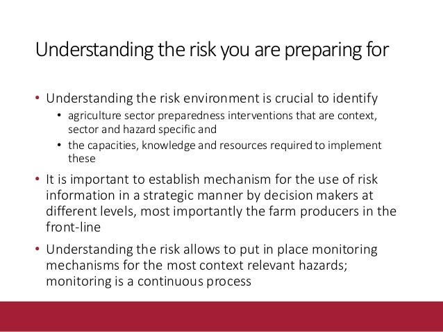 Scaling-up emergency preparedness Multiple threats to food security and increasing frequency and intensity of climate rela...