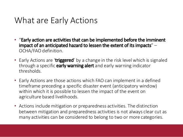 Hurricane Preparedness and Early Action examples Preparedness Early Action Communication and Planning Establish communicat...