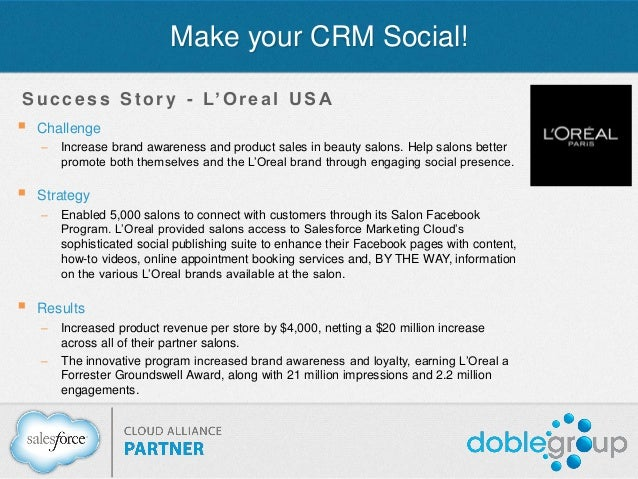 Webinar make your crm social for Salon crm