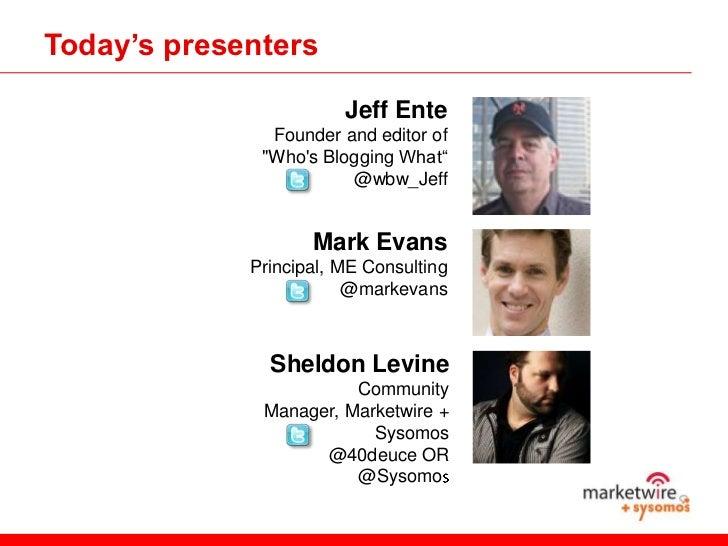 The Changing World of Business Blogging Slide 3