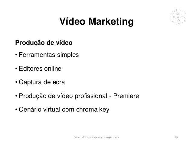 Vídeo Marketing Produção de vídeo • Ferramentas simples • Editores online • Captura de ecrã • Produção de vídeo profission...