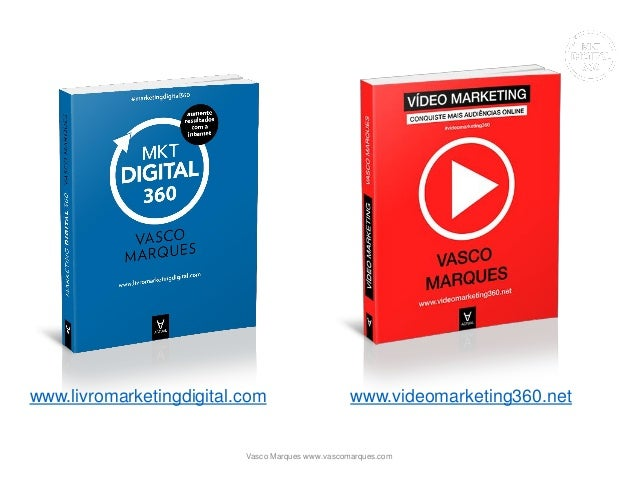 www.livromarketingdigital.com www.videomarketing360.net Vasco Marques www.vascomarques.com