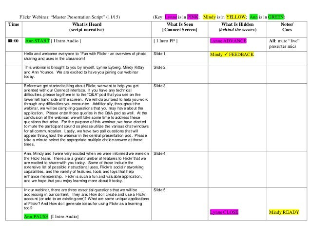 webinar master presentation script final, Presentation templates