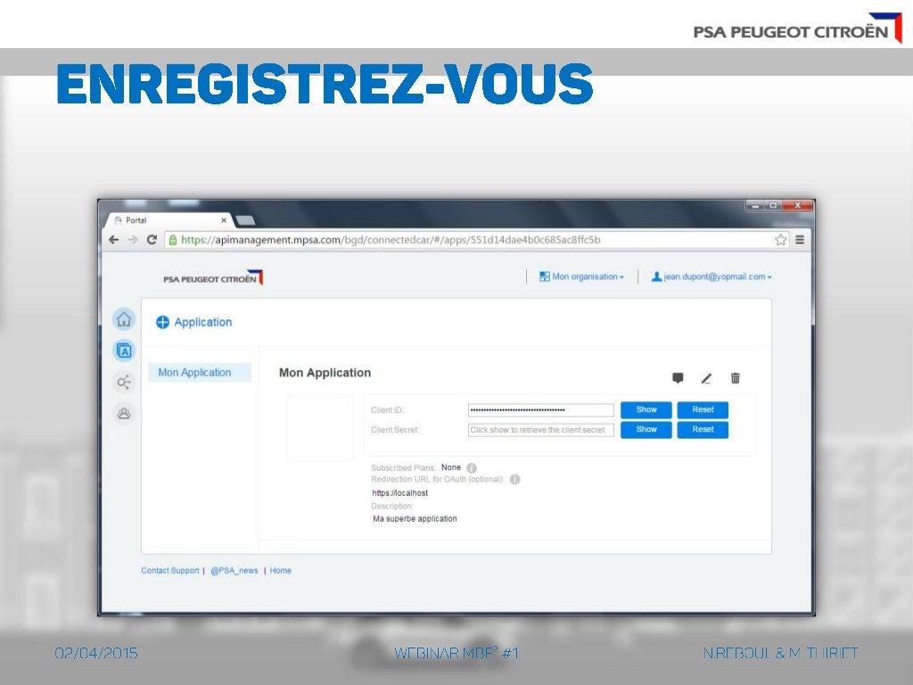 MBF2] Webinar API PSA Peugeot Citroën #1