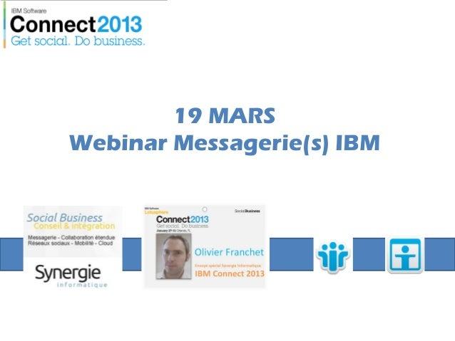 19 MARSWebinar Messagerie(s) IBM