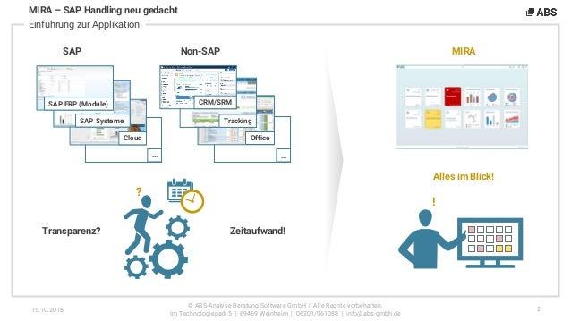 MIRA – SAP-Handling neu gedacht Slide 3