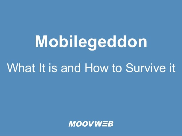Mobilegeddon What It is and How to Survive it