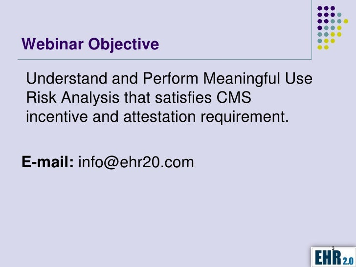 Meaningful Use Risk Analysis - How to conduct ...