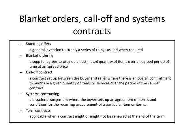 Blanket Purchase Order Agreement Template Costumepartyrun