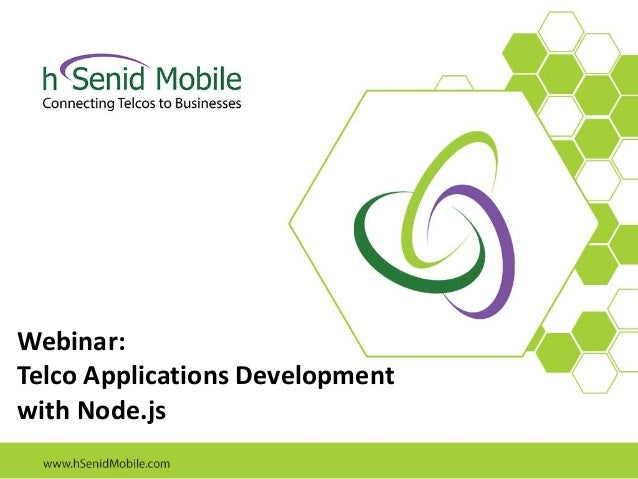 Webinar: Telco Applications Development with Node.js