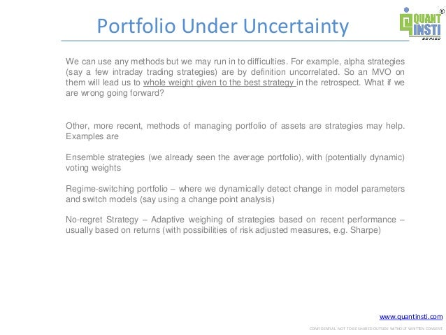 Quantitative Portfolio Management Strategies by Prodipta Ghosh