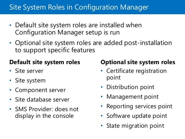 Administering and configuring System Center Configuration