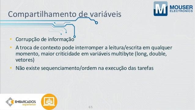 Compartilhamento de variáveis • Corrupção de informação • A troca de contexto pode interromper a leitura/escrita em qualqu...