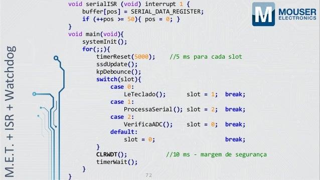 void serialISR (void) interrupt 1 { buffer[pos] = SERIAL_DATA_REGISTER; if (++pos >= 50){ pos = 0; } } void main(void){ sy...