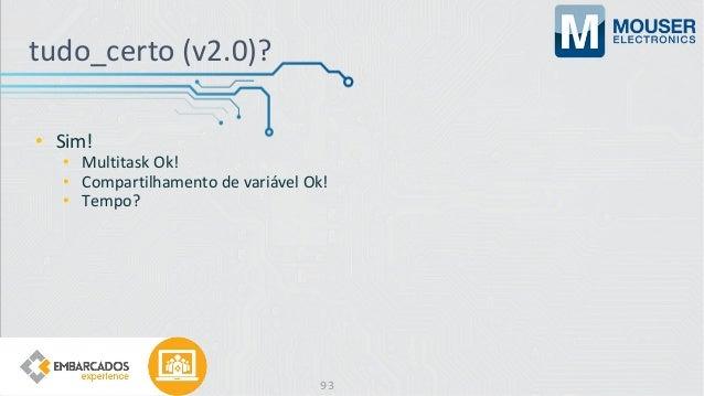 • Sim! • Multitask Ok! • Compartilhamento de variável Ok! • Tempo? tudo_certo (v2.0)? 93