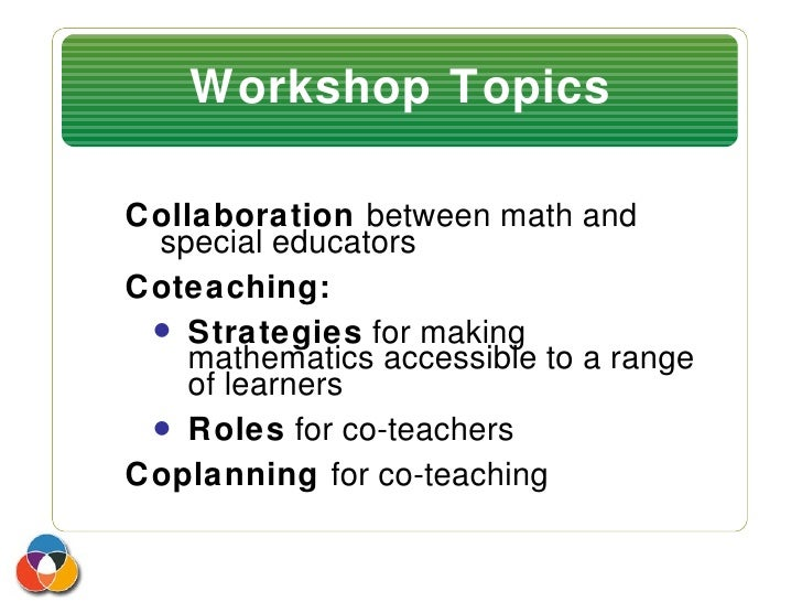 Collaborative Teaching Goals ~ Collaboration and co teaching workshop