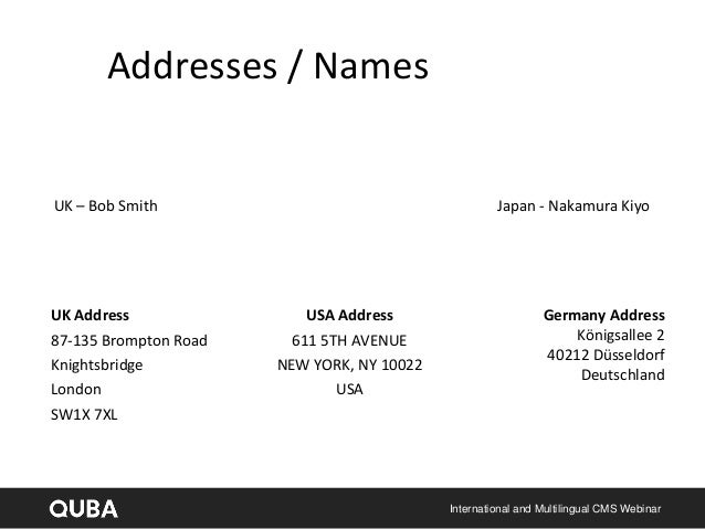 how to read addresses in usa