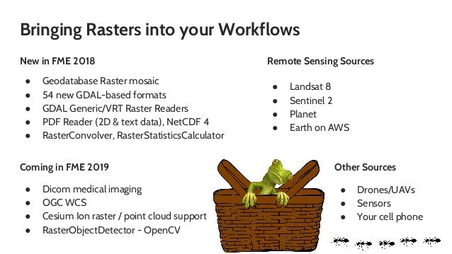 Picnics and Processing Rasters from Satellites, UAVs, and More - FME …