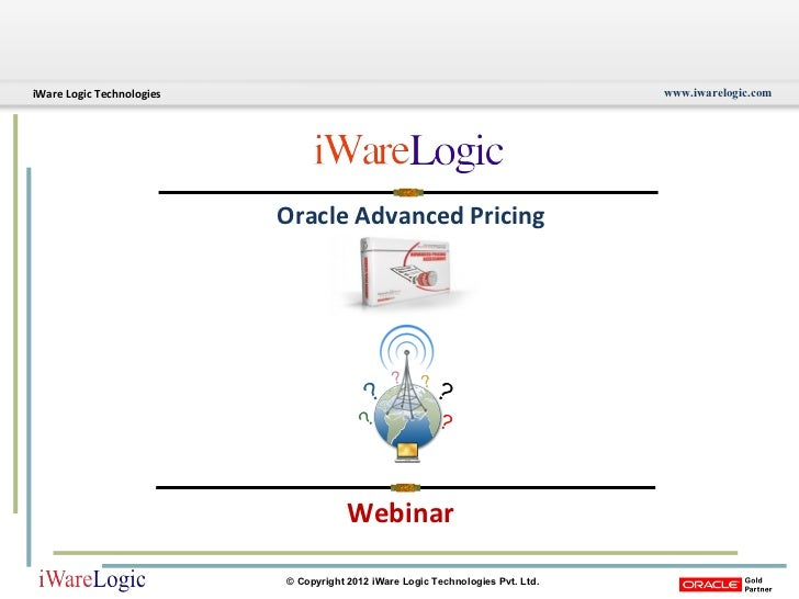 Webinar Oracle Advanced Pricing