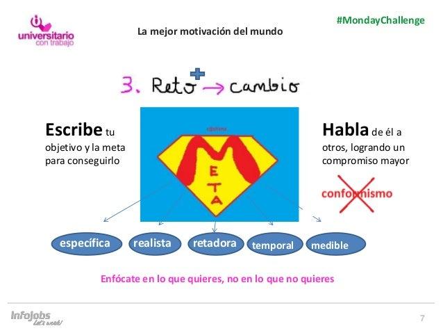 7 #MondayChallenge específica realista medibletemporalretadora Escribetu objetivo y la meta para conseguirlo La mejor moti...