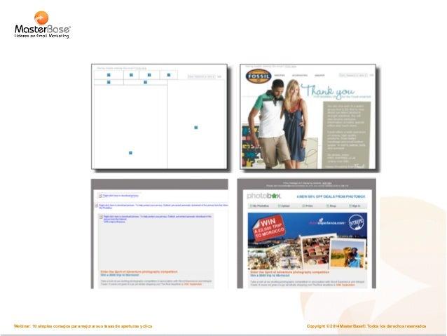 Email en móviles  Del Mouse al nuevo mouse  Copyright © 2014 MasterBase®. Todos los Webinar: 10 simples consejos para mejo...