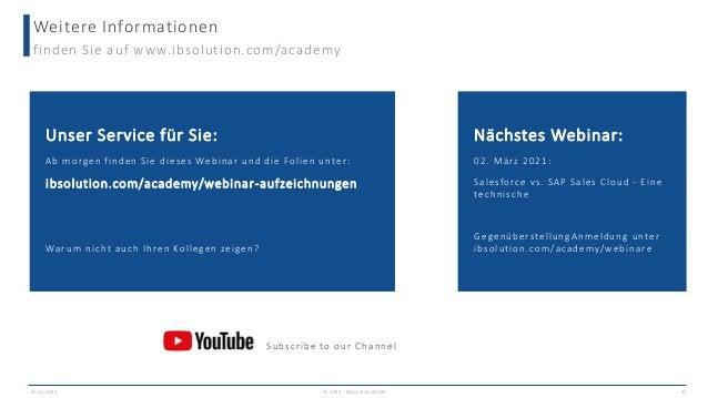 Weitere Informationen finden Sie auf www.ibsolution.com/academy 25.02.2021 © 2021 - IBsolution GmbH 15 Unser Service für S...
