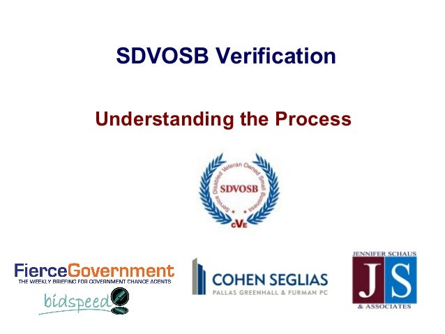 SDVOSB VerificationUnderstanding the Process