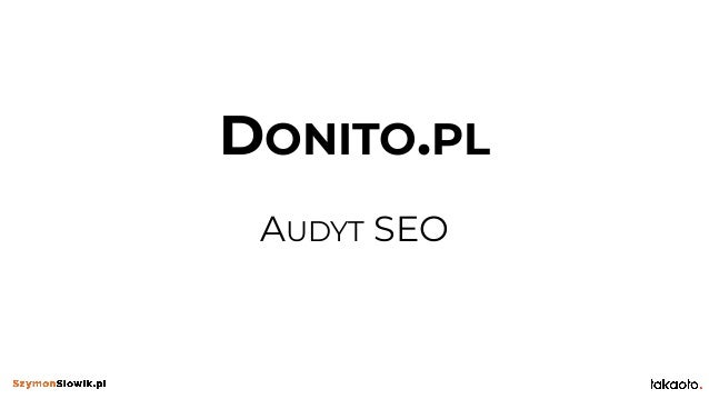 DONITO.PL AUDYT SEO