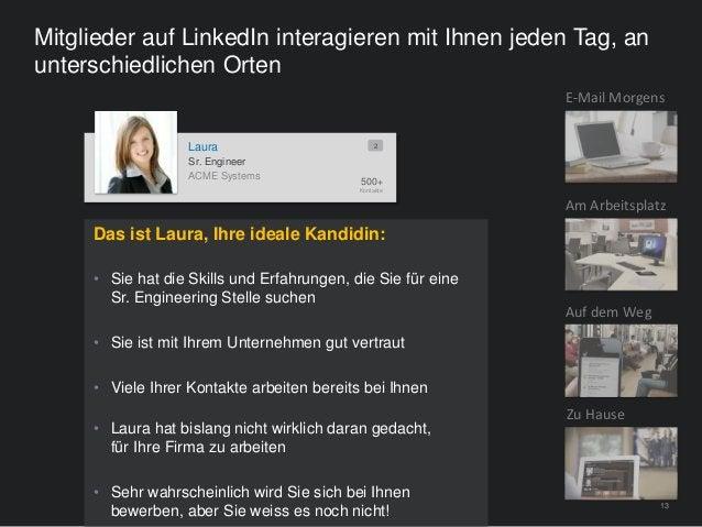 13 Mitglieder auf LinkedIn interagieren mit Ihnen jeden Tag, an unterschiedlichen Orten ACME Systems Laura 500+ Kontakte 2...