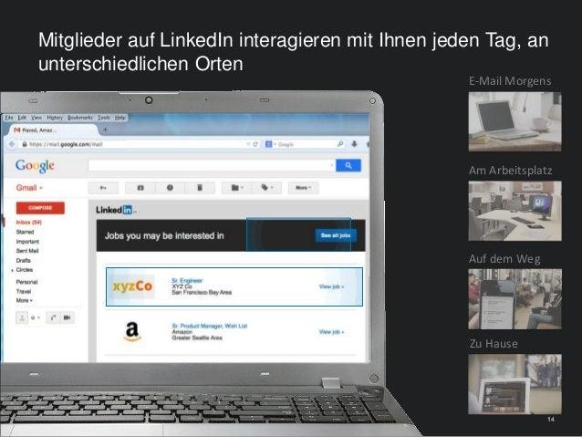 141414 E-Mail Morgens Auf dem Weg Zu Hause Am Arbeitsplatz Mitglieder auf LinkedIn interagieren mit Ihnen jeden Tag, an un...