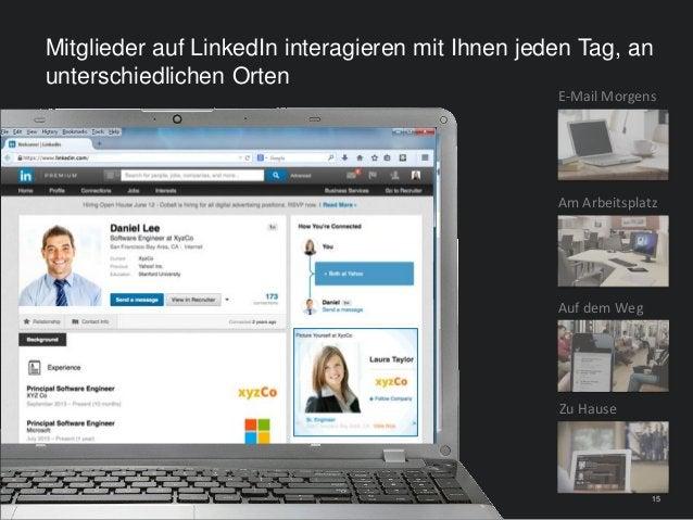 15 Mitglieder auf LinkedIn interagieren mit Ihnen jeden Tag, an unterschiedlichen Orten 15 E-Mail Morgens Auf dem Weg Zu H...