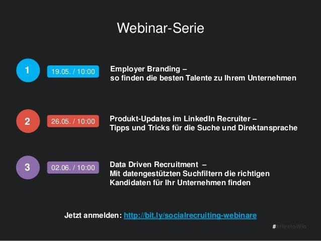 Webinar-Serie Employer Branding – so finden die besten Talente zu Ihrem Unternehmen ##HiretoWin Data Driven Recruitment – ...