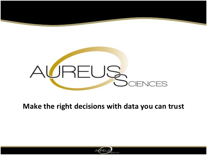 Make the right decisions with data you can trust