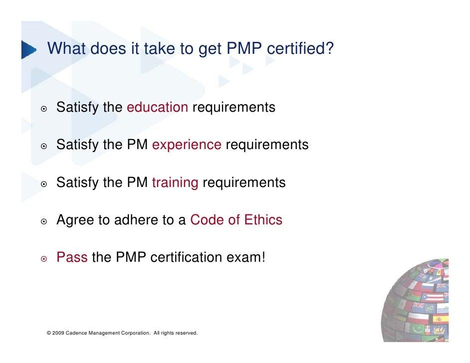 Pmi Certifications In Project Management Webinar Slide Deck