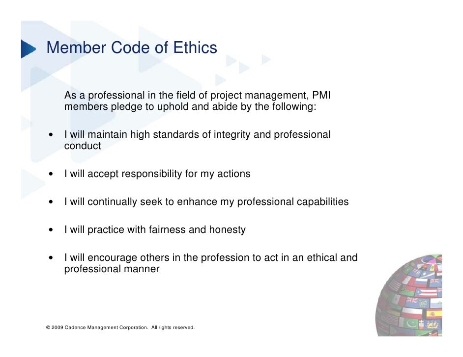 professional code of ethics