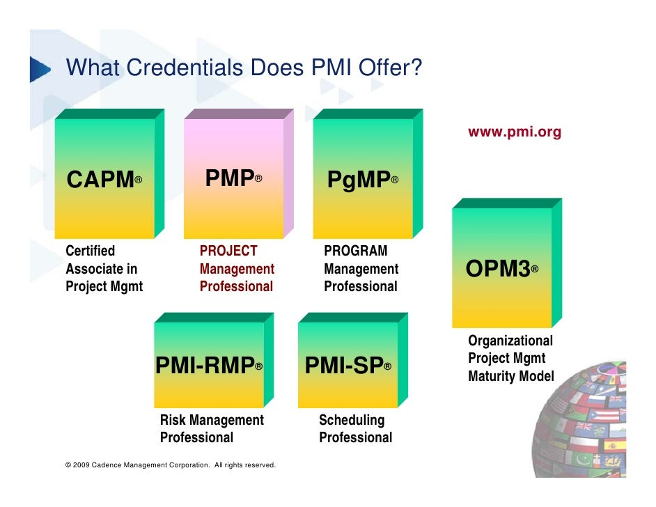 Pmi Certifications In Project Management Webinar Slide Deck