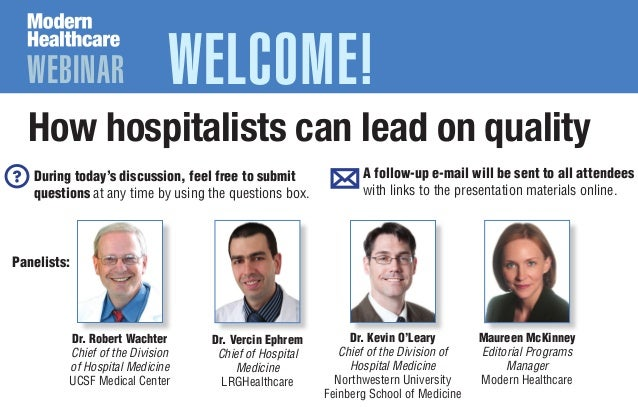 How Hospitalists Can Lead on Quality