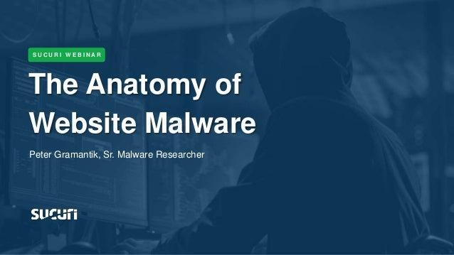 Tweet #AskSucuri to @SucuriSecurity The Anatomy of Website Malware S U C U R I W E B I N A R Peter Gramantik, Sr. Malware ...