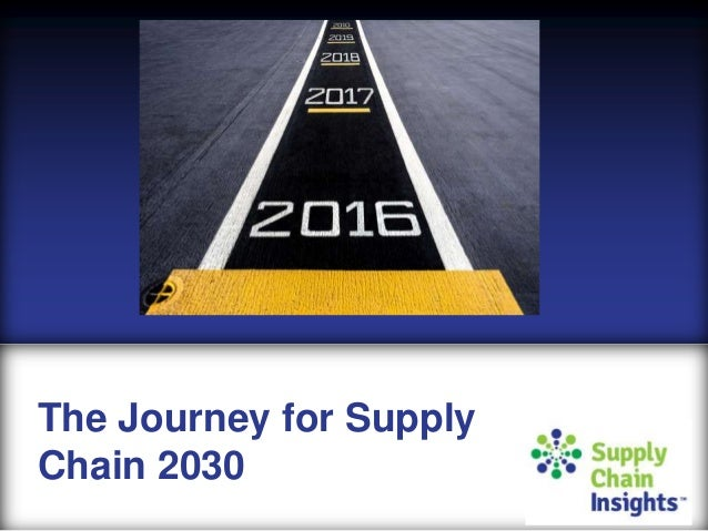The Journey to Supply Chain 2030 - Silde Deck - 16 NOV 2016