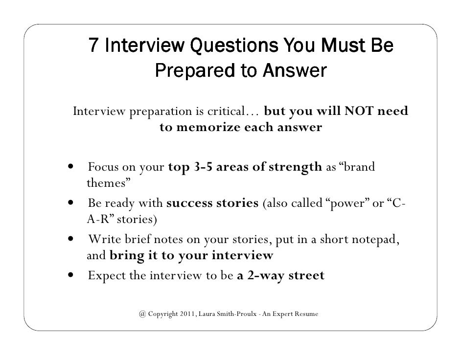 7 interview questions you must be prepared to answer webinar slides