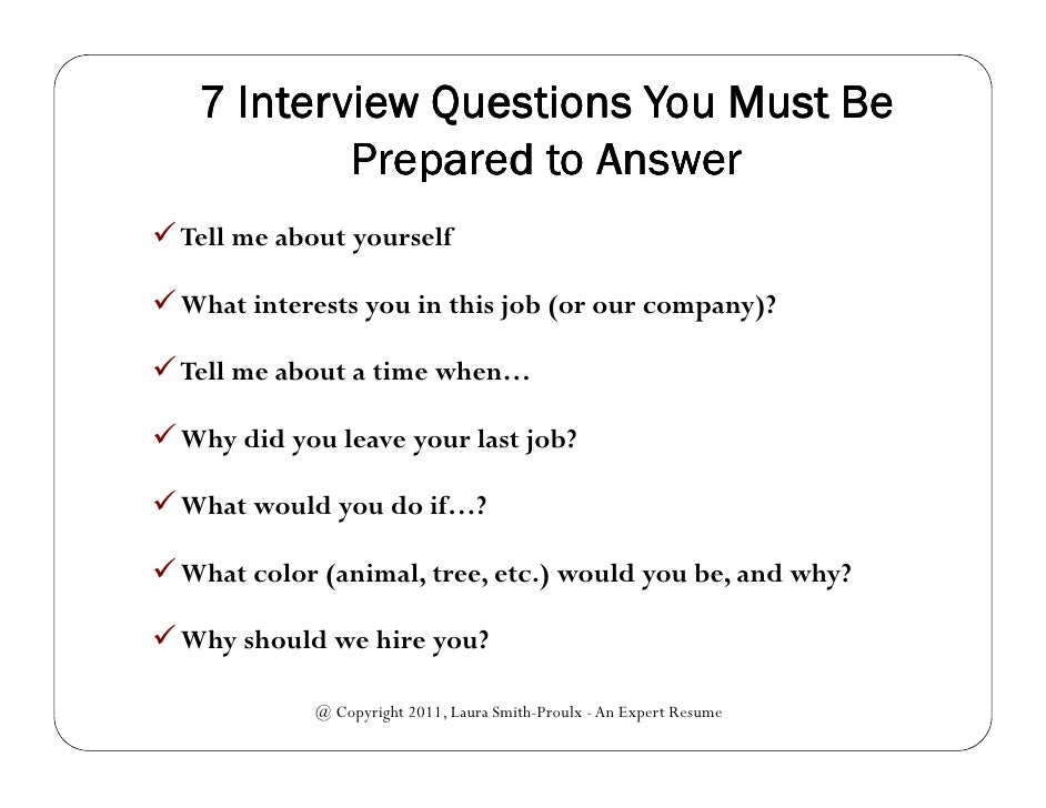 7 Interview Questions You Must Be Prepared To Answer