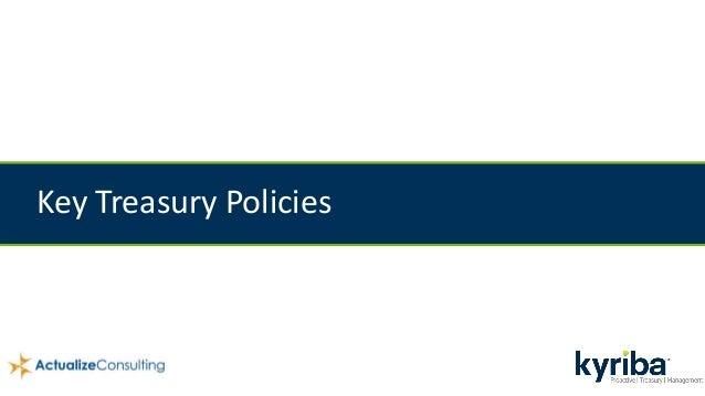 Key Treasury Policies
