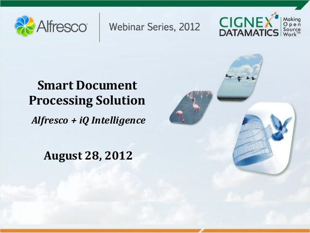 Smart DocumentProcessing SolutionAlfresco + iQ IntelligenceAugust 28, 2012