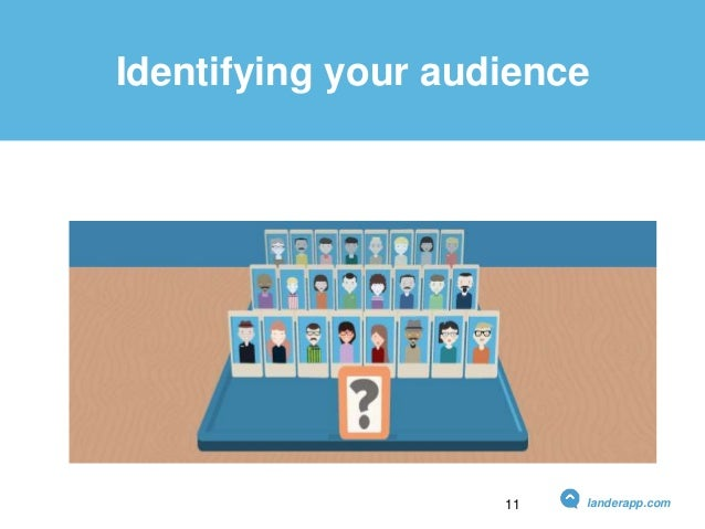 Identifying your audience landerapp.com11