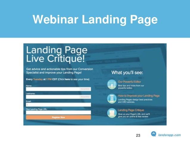 Webinar Landing Page landerapp.com23
