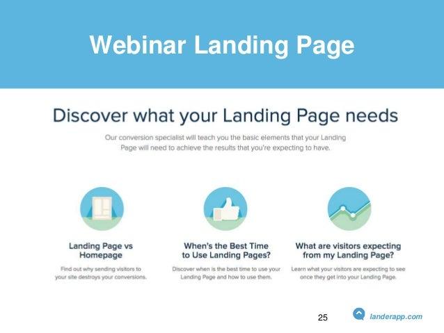 Webinar Landing Page landerapp.com25